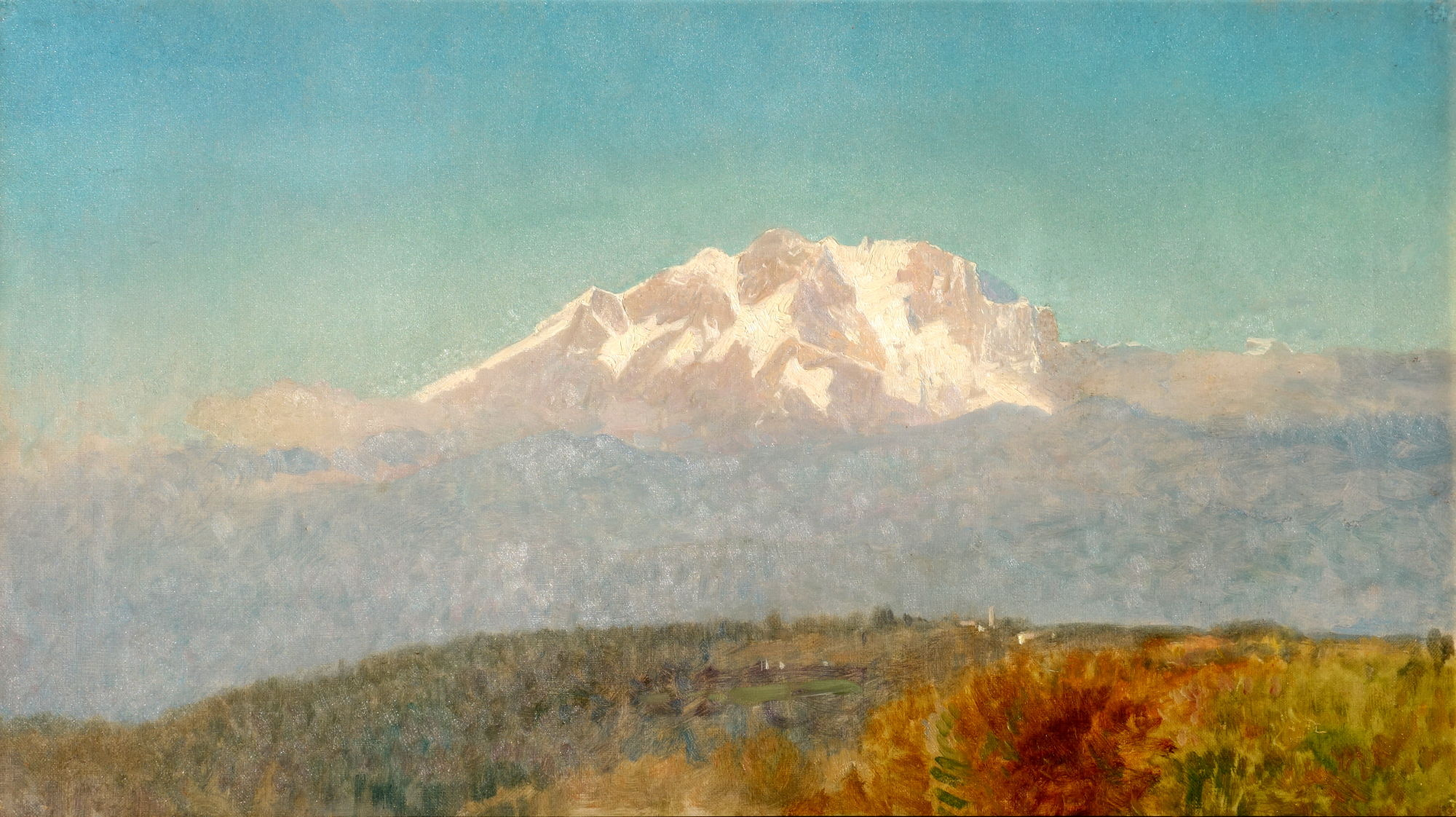 William Stanley Haseltine: Swiss mountain landscape, ca. 1880, Öl auf Leinwand, 35 x 63 cm, Privatbesitz(c) Joe Amberg
